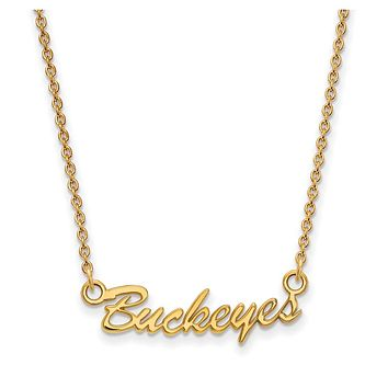 NCAA 14k Yellow Gold Ohio State Small Pendant Necklace