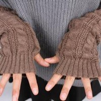 Cable Needle Mitten Knitted Gloves by deniserose on Zibbet