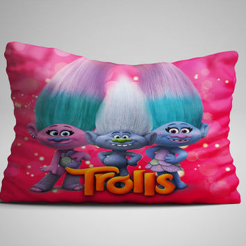 "Dreamworks Trolls Guy Diamond Zippered Pillow Case 16""x 24"" - Two sides cover"