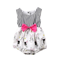 Bunny Girl Clothing Bownot Clothes Sunsuit Outfits Multi