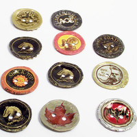 Recycled Bottlecap Buttons by ourchildrensearth on Etsy
