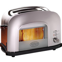 Chrome Countertop Toaster w/ See Through Toasting Window ~ 2-Slice Wide Slot on eBay!