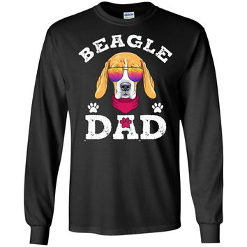 Mens Beagle Dad T-shirt Gifts For Fathers Day 2017 Dog  LS Ultra Cotton Tshirt