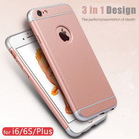 360 Full Body Protective Case for  iPhone 6 6S 6 6S Plus  Non Slip Design Cover 3 in 1 Detachable Plastic Hard Phone Case