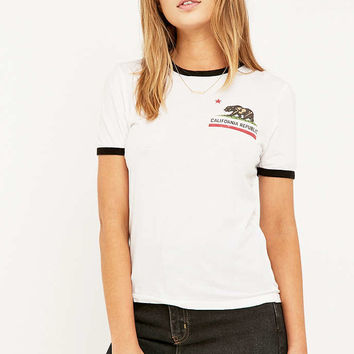 Truly Madly Deeply California Republic Ringer T-shirt - Urban Outfitters