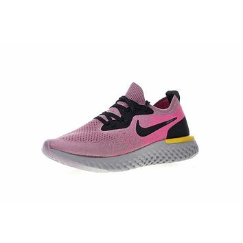 18SS! Nike Epic React Flyknit ¡°Purple Pink¡± Running Shoes Sneaker AQ0070-500