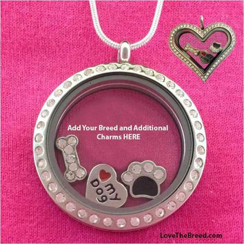 A Love The Breed Floating STARTER Charm Locket