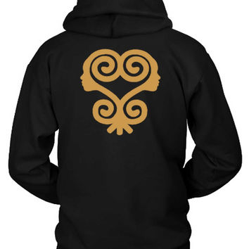 Sankofa T Shirt African Symbols Adinkra T Shirt Hoodie Two Sided