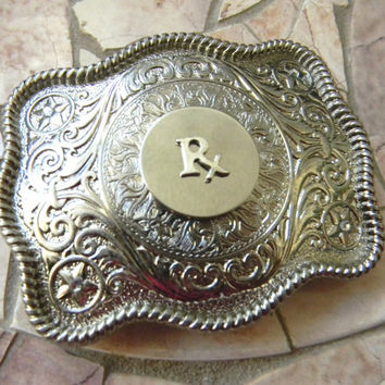 RX Pharmacist Belt Buckle, Pharmacy, Prescription Drugs, Pharmacist Gift,Pharmacy Tech, Pharmacy Student, Medicine,Medical School Graduation