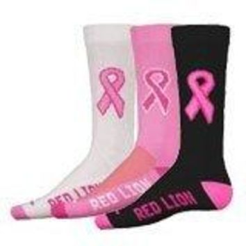 Cure - Breast Cancer Awareness Athletic Crew Socks
