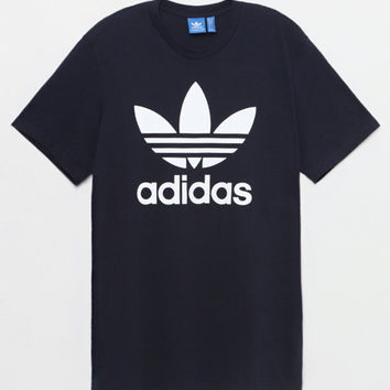 adidas Trefoil Navy T-Shirt at PacSun.com