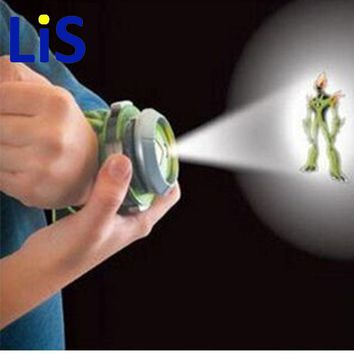 Lis 2015 Hot Selling Ben 10 Style Japan Projector Watch BAN DAI Genuine Toys for Kids Children Slide Show Watchband Drop