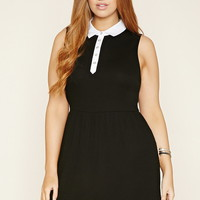 Plus Size Collared Skater Dress