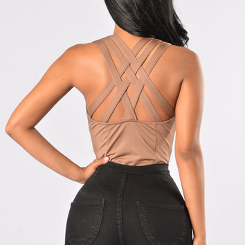 No Secret Bodysuit - Mocha