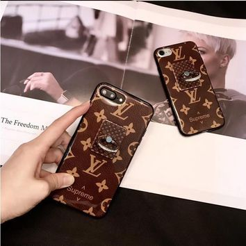Perfect Louis Vuitton X Supreme Fashion Print iPhone Phone Cover Case For iphone 6 6s