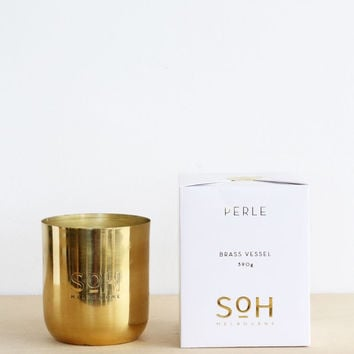 Scent of Home | Candle | Perle Brass Vessel