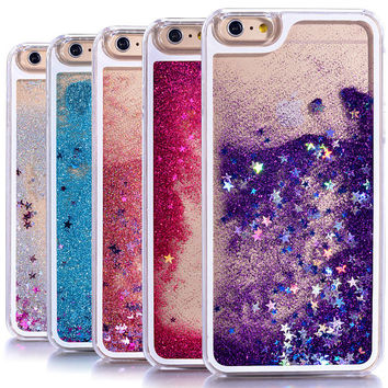 IPhone 6/6s Case / Liquid Glitter Case / Waterfall Case / Quick Sand Case / Purple / Pink/ Blue / Silver