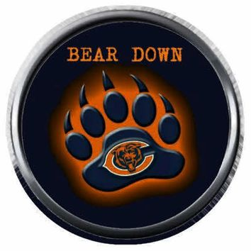 Glowing Chicago Bears Bear Claw NFL Football Logo 18MM - 20MM Snap Jewelry Charm New Item