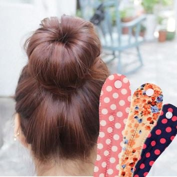 ICIKHY9 2015 new arrival fashion Korea  button fabric floral  spot  clips ball head band   Hair tools Hair accessories 12 colors