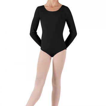 Bloch Long Sleeve Round Neck Leotard - Clearance