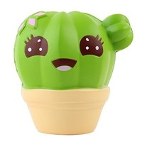 """Anboor 4.1"""" Squishies Cactus Scented Squishies Jumbo Slow Rising Kawaii Stress Relief Toy for Collection Gift"""