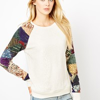 Denim & Supply By Ralph Lauren Sweatshirt With Contrast Sleeves