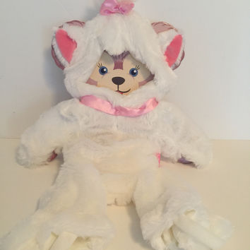 disney parks usa marie costume outfit for Shellie May bear plush new card