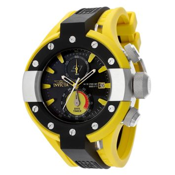 Invicta 13065 Men's S1 Rally Yellow & Black Rubber Strap Chronograph Dive Watch