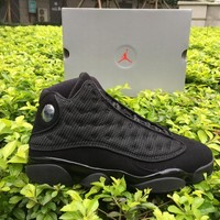 Air jordan retro 13 black cat Hyper Royal olive Wheat GS Bordeaux DMP Chicago men women basketball shoes 13s sports Sneaker Shoes 36-47