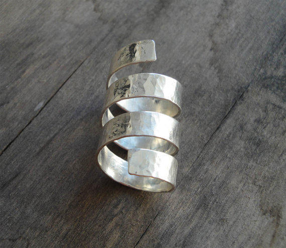 Handmade Ancient Greek Sterling Silver Armor Ring