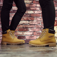 New fashion women shoes leather woman boots woman's casual shoe lace-up Spring female girl footwear