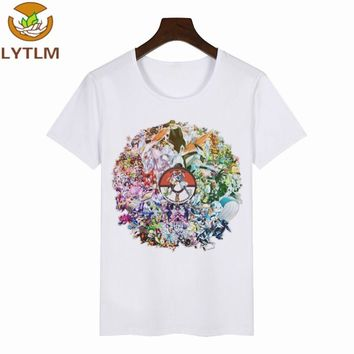 LYTLM Boy Clothes 2018 Summer  Shirt Boy Cotton Baby Boys Shirts Colorfull Colored T-shirts For Girls Baby Clothing BoyKawaii Pokemon go  AT_89_9