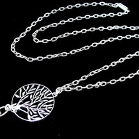 Women's Fashion Lanyard with Tree of Life and Magnetic, Breakaway Clasp - ID Badge Holder or Key Chain