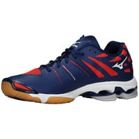 Mizuno Wave Lightning Z Men's Volleyball Shoes - Navy Red