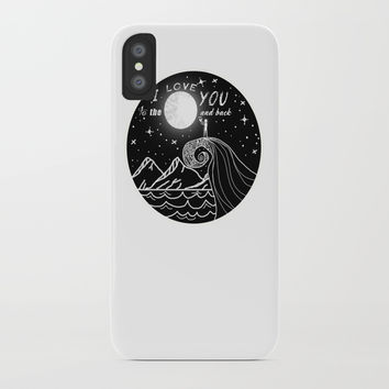 I love you to the moon and back iPhone Case by Shashira Handmaker