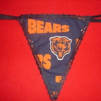 Womens CHICAGO BEARS G-String Thong Lingerie Football Panty Underwear