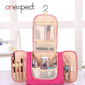 onexpect Toiletry Travel Women Beauty Makeup Make Up Box Case Pouch Organizer Cosmetic Bag Ourdoor Travel Bag Bolsas Neceser