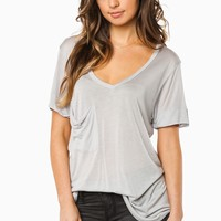 ShopSosie Style : Shula Pocket Tee in Grey