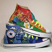 Painted Converse: Adventure Time