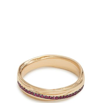 Ruby & yellow-gold Fettucine ring | Alison Lou | MATCHESFASHION.COM UK