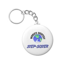 World's Greatest Step-Sister Basic Round Button Keychain