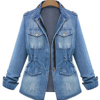Jean Jacket with Fitted Waist
