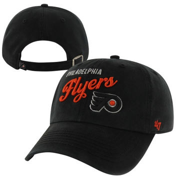 47 Brand Philadelphia Flyers Womens Audrey Graphic Clean-Up Adjustable Hat - Black