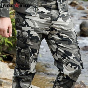 Cargo Pants Overalls Men'S Millitary Clothing Tactical Pants Male Combat Camouflage Army Style Camo Green Trouser Plus Size 40