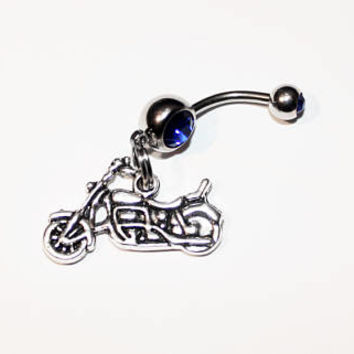 Motorcycle Belly Button Ring, Navel Ring, Piercing, Gift For Biker