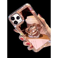 Rhinestone iPhone Case With Bear Holder