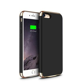 Power Battery Charger Cases Best For All iPhone 5 5s SE 6 6s 7 8 Plus