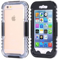 Waterproof Cases For iphone 6 Plus 5.5 Clear Front & Back Phone Cover Accessories with Strap Swimming Diving Pouch Cover