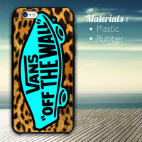 vans off the wall leopard iPhone 4/4S, 5/5S, 5C, 6 Series Hard Plastic Case