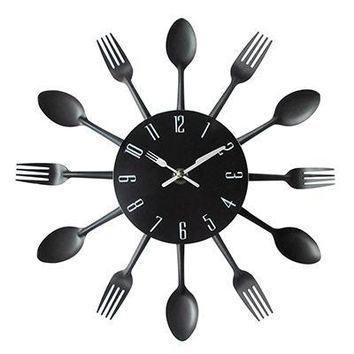 Spoon Fork Creative Quartz Wall Mounted Clock